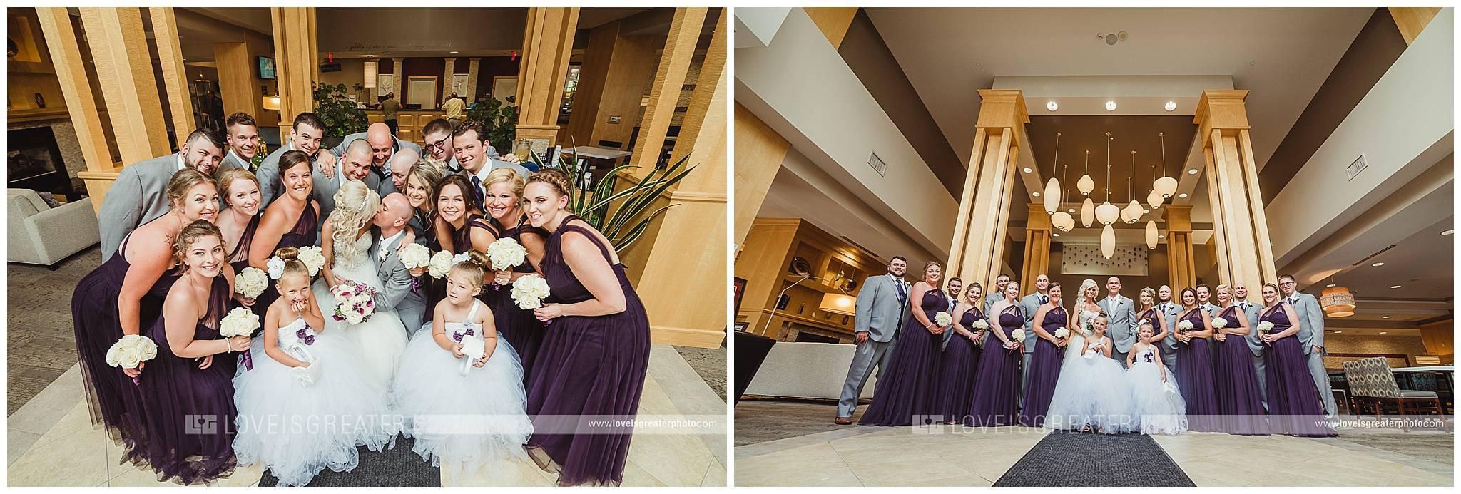 Hilton Garden Inn Toledo Wedding Photographer | Lacourse Wedding